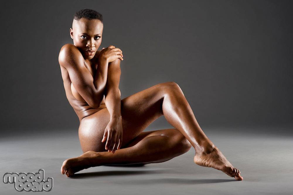 Nude African American woman