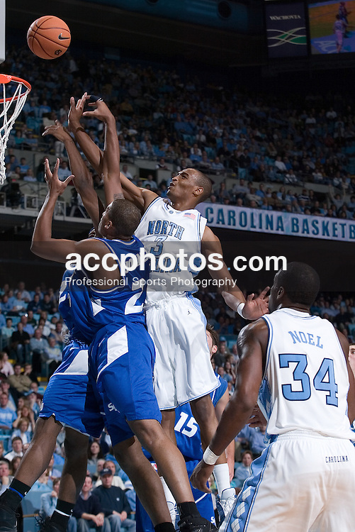 07 December 2005: Reyshawn Terry (3) during a North Carolina Tarheel 75-63 win over the the Saint Louis Billikens, in the Dean Smith Center in Chapel Hill, NC.