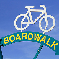 Boardwalk sign, Wildwood, New Jersey, USA