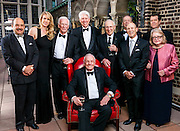 The Lindbergh Foundation Board of Directors with Apollo astronauts Gene Cernan, Neil Armstrong, and Jim Lovell.  Photographed at the Explorer's Club in New York on 18 May, 2012, during the foundation's 35th Anniversary Dinner.
