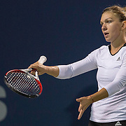 August 19, 2014, New Haven, CT:<br /> Simona Halep reacts during a match against Magdalena Rybarikova on day five of the 2014 Connecticut Open at the Yale University Tennis Center in New Haven, Connecticut Tuesday, August 19, 2014.<br /> (Photo by Billie Weiss/Connecticut Open)