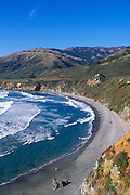 Sand Dollar Beach and the Santa Lucia Mountains at Pacific Valley, Los Padres National Forest, Big Sur Coast, California