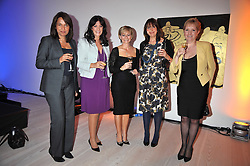 Left to right, RUBY McGREGOR-SMITH, GAIL REBUCK, HARRIET GREEN, CATH KIDSTON and KATE BLEASDALE at the presentation of the Veuve Clicquot Business Woman Award 2009 hosted by Graham Boyes MD Moet Hennessy UK and presented by Sir Trevor Macdonald at The Saatchi Gallery, Duke of York's Square, Kings Road, London SW1 on 28th April 2009.