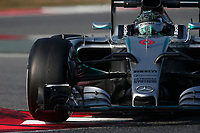 ROSBERG nico (ger) mercedes gp mgp w06 action during Formula 1 winter tests 2015 at Barcelona, Spain from February 19th to 22nd. Photo DPPI / Jean Michel Le Meur.