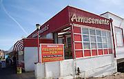 Amusement arcade sign on pier, Felixstowe, Suffolk
