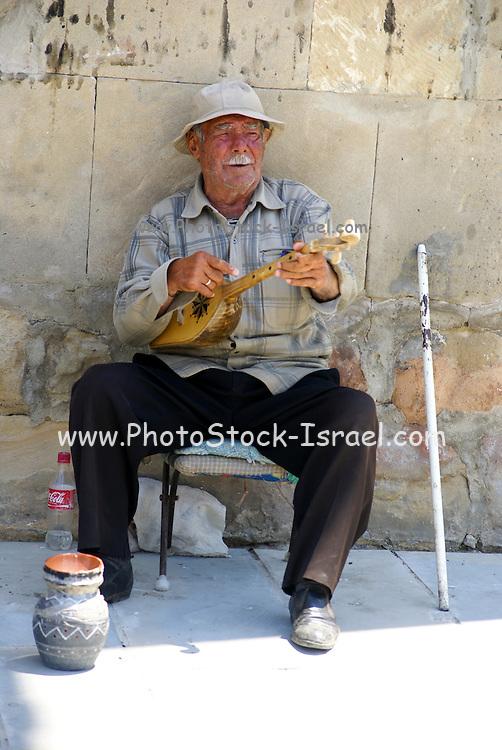 Georgia, Mtskheta local man playing for money