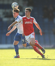 Callum Styles of Bury (L) and Cameron Brannagan of Fleetwood Town in action - Mandatory by-line: Jack Phillips/JMP - 25/03/2017 - FOOTBALL - Gigg Lane - Bury, England - Bury v Fleetwood Town - Football League 1