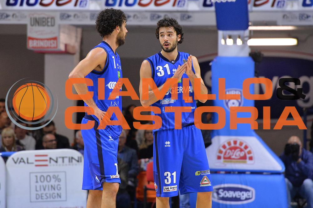 Vitali Michele, Vitali Luca<br /> Happycasa Brindisi - Germani Basket Brescia<br /> Legabasket serieA2017-2018<br /> Brindisi , 29/10/2017<br /> Foto Ciamillo-Castoria/