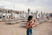 Daily life at the San Francesco beach in Bari on 2 August 2019. Christian Mantuano / OneShot