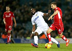 Gary O'Neil of Bristol City goes past Souleymane Doukara of Leeds United - Mandatory by-line: Robbie Stephenson/JMP - 14/02/2017 - FOOTBALL - Elland Road - Leeds, England - Leeds United v Bristol City - Sky Bet Championship