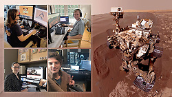 "PICTURE SHOWS: Members of the NASA Mars Rover team working from home<br /> <br /> <br /> ....<br /> <br /> FULL WORDS AVAILABLE: info@cover-images.com<br /> <br /> <br /> The team behind NASA's Curiosity Mars rover has been working from home just like you – and controlling the vehicle from their living rooms. <br /> <br /> On March 20, 2020, nobody on the team was present at NASA's Jet Propulsion Laboratory in Southern California, where the mission is based. It was the first time the rover's operations were planned while the team was completely remote. Two days later, the commands they had sent to Mars executed as expected, resulting in Curiosity drilling a rock sample at a location called ""Edinburgh.""<br /> <br /> When: 20 Mar 2020<br /> Credit: Cover Images/NASA/JPL-Caltech<br /> <br /> **Editorial use only**"