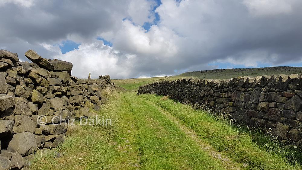 Green Lane below Slades Rocks