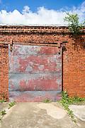 Abandoned Factory Door, AL-61, Newbern, Alabama