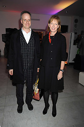 JULIA PEYTON-JONES and HANS ULRICH OBRIST at an exhibition of work by Alan Aldridge held at the Design Museum, Shad Thames, London on 13th October 2008.