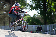 #370 (CLAESSENS Zoe) SUI during practice at Round 5 of the 2018 UCI BMX Superscross World Cup in Zolder, Belgium