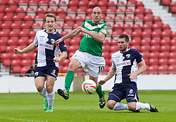 WREXHAM, WALES - Saturday, May 3, 2014: Aberystwyth Town's Geoff Kellaway in action against The New Saints during the Welsh Cup Final at the Racecourse Ground. (Pic by David Rawcliffe/Propaganda)