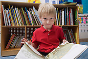 Little Boy Reading  Picture Book