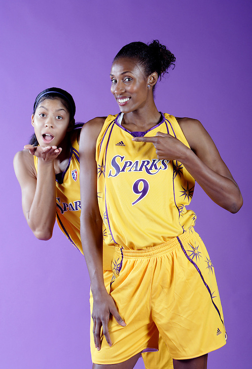 Lisa Leslie and Candace Parker of the WNBA's LA Sparks.