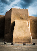 The historic San Francisco de Asis church in Ranchos de Taos, New Mexico.