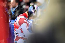 19.01.2013, Lauberhornabfahrt, Wengen, SUI, FIS Weltcup Ski Alpin, Abfahrt, Herren, im Bild Carlo Janka (SUI) nach seinem Ausfall im Ziel // reacts after his run of mens downhillrace of FIS Ski Alpine World Cup at the Lauberhorn downhill course, Wengen, Switzerland on 2013/01/19. EXPA Pictures © 2013, PhotoCredit: EXPA/ Freshfocus/ Urs Lindt..***** ATTENTION - for AUT, SLO, CRO, SRB, BIH only *****