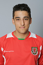 SWANSEA, WALES - Monday, March 30, 2009: Wales' Under-21 Neil Taylor. (Photo by David Rawcliffe/Propaganda)