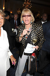 CAROL THATCHER at a party to celebrate the publication of Gemma Levine's book Mayfair, held at Claridge's, Brook Street, London on 16th June 2008.<br />