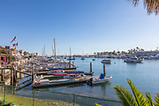 Water Front Homes in West Lido Channel Newport Beach
