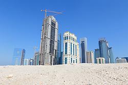 22.01.2015, Doha, QAT, FIFA WM, Katar 2022, Vorberichte, im Bild einige Hochhäuser von Doha // Preview of the FIFA World Cup 2022 in Doha, Qatar on 2015/01/22. EXPA Pictures © 2015, PhotoCredit: EXPA/ Sebastian Pucher