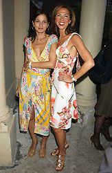 Left to right, YASMIN MILLS and HEATHER KERZNER at Michele Watches Kaleidoscope Summer Garden Party held at Home House, Portman Square, London on 15th June 2005.<br /><br />NON EXCLUSIVE - WORLD RIGHTS