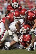 Arkansas Razorbacks vs Ole Miss Rebels in Fayetteville, Arkansas.University of Arkansas Razorback 2006 Football team....©Wesley Hitt.All Rights Reserved.501-258-0920.
