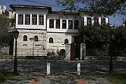 Greece, Macedonia, Castoria; Exterior of the Skoutaris Mansion