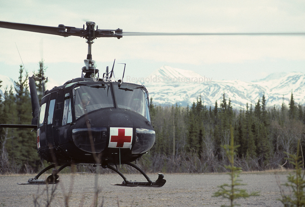 Rescue Helicopter, Military Helicopter, Army Helicopter, Huey Helicopter, Denali National Park, Alaska