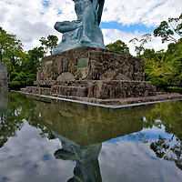 Peace Statue at Peace Park in Nagasaki, Japan<br />
