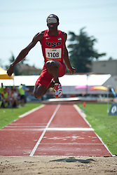 GILLETTE Elexis, USA, Triple Jump, T11, 2013 IPC Athletics World Championships, Lyon, France