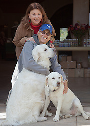 Actress Marcia Mason with Writer Gary Dontzig and dogs in Abiquiu, NM