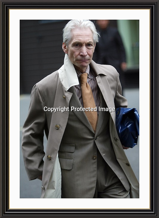 Charlie Watts<br /> Museum-quality Archival signed Framed Print A3 (Limited Edition of 25)