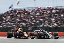 July 16, 2017 - Silverstone, Great Britain - Motorsports: FIA Formula One World Championship 2017, Grand Prix of Great Britain, .#3 Daniel Ricciardo (AUS, Red Bull Racing), #8 Romain Grosjean (FRA, Haas F1 Team) (Credit Image: © Hoch Zwei via ZUMA Wire)
