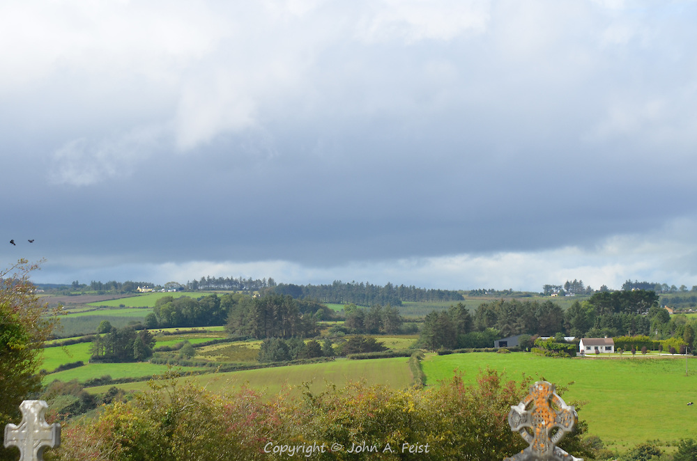 The rolling landscape and changeable skies over Brosna, County Kerry, Ireland