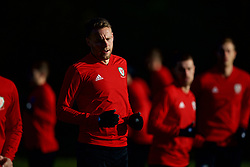 CARDIFF, WALES - Sunday, November 18, 2018: Wales' Chris Gunter during a training session at the Vale Resort ahead of the International Friendly match between Albania and Wales. (Pic by David Rawcliffe/Propaganda)
