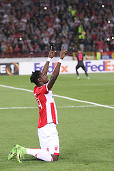 Richmond Boakye of Crvena Zvezda prior to the football match between NK Crvena Zvezda Beograd and Arsenal FC in Group H of UEFA Europa League 2017/18, on October 19, 2017 in Stadion Rajko Mitic, Belgrade, Serbia. Photo by Marko Metlas / Sportida