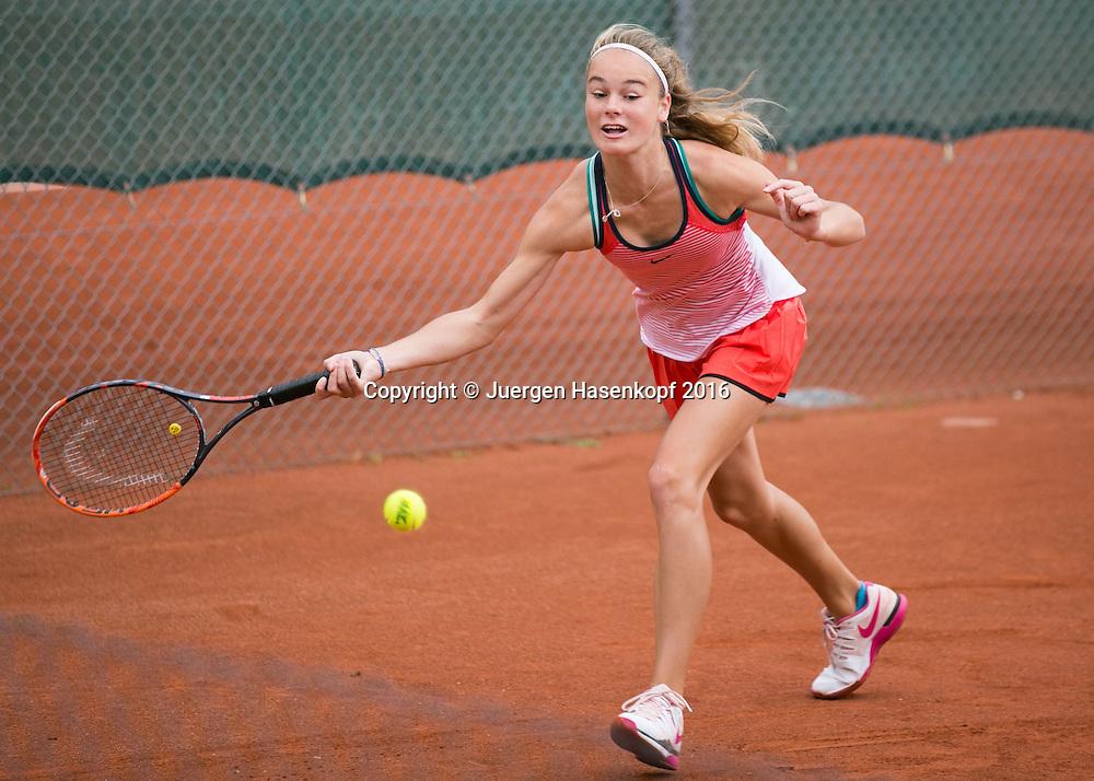 Tennis Europe-Bavarian Junior Open, Anja Wildgruber (GER)  GS14<br /> <br /> Tennis - Bavarian Junior Open 2016 - Tennis Europe Junior Tour -  SC Eching - Eching - Bayern - Germany  - 9 August 2016. <br /> &copy; Juergen Hasenkopf