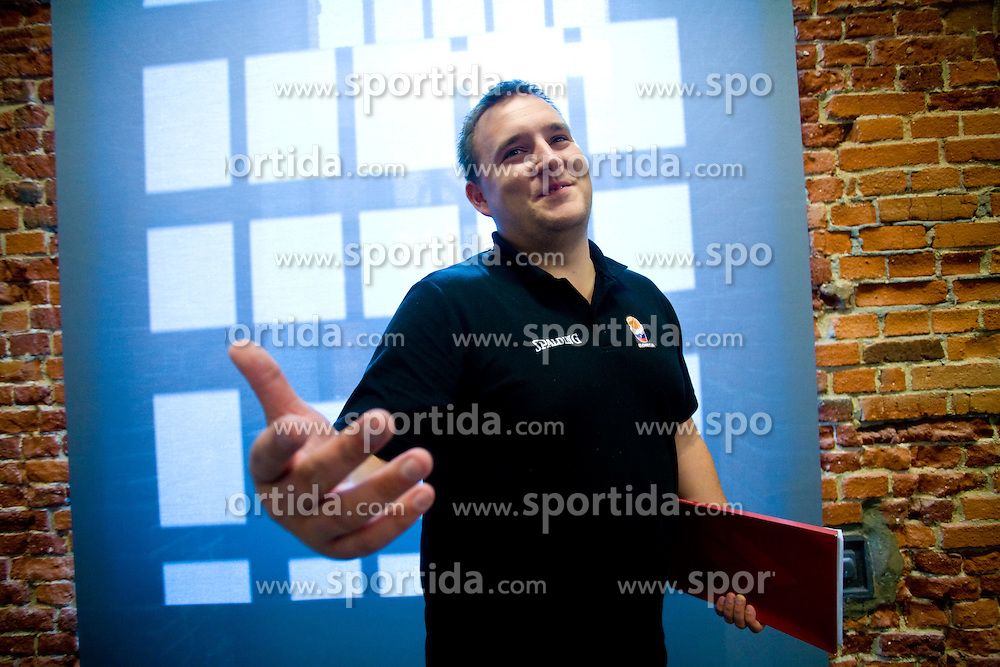 Matej Avanzo of KZS after the press conference  in a Andel's Hotel during Eurobasket 2009, on September 15, 2009 in  Lodz, Poland.  (Photo by Vid Ponikvar / Sportida)