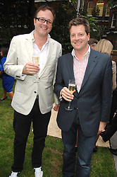 Left to right, brothers GEORGE SITWELL and WILLIAM SITWELL at a reception for the Friends of The Castle of Mey held at The Goring Hotel, London on 20th May 2008.<br /><br />NON EXCLUSIVE - WORLD RIGHTS