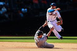 Omar Quintanilla (#3) is jumping over Juan Perez (#2), 2013. York