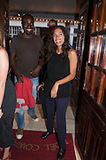 KOFI DEBRAH; ROSARIO DAWSON, West End opening of RSC production of Julius Caesar at the Noel Coward Theatre on Saint Martin's Lane. After-party  at Salvador and Amanda, Gt. Newport St. London. 15 August 2012.