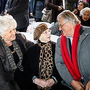 NLD/Amsterdam/20160515 - Nationaal Holocaust museum opent met schilderijen Jeroen Krabbé, Jeroen in gesprek