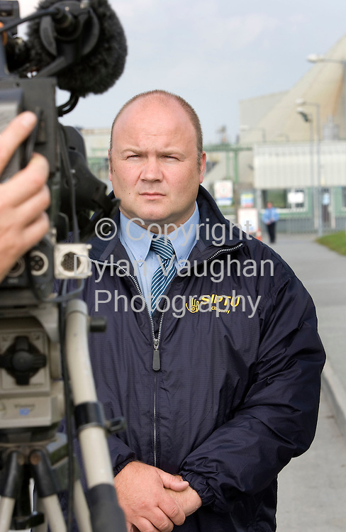 26/9/2008.Dennis Hynes, SIPTU branch organiser in Kilkenny pictured at the Galmoy Mine plant in North County Kilkenny yesterday..Picture Dylan Vaughan.
