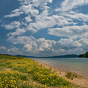 A multi shot panorama from the shores of Round Valley Reservoir in Lebanon, New Jersey.