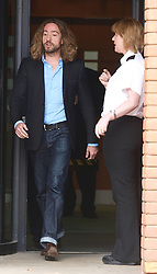 TV presenter Justin Lee Collins leaves  St Albans Crown court after being found guilty of  harassing his former partner ,Tuesday October 9th 2012 Photo by: i-Images