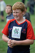 Cricket Fan Josh Hastey at the National Bank's Cricket Super Camp , University oval, Dunedin, New Zealand. Thursday 2 February 2012 . Photo: Richard Hood photosport.co.nz